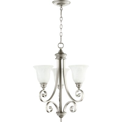 Asheville 3-Light Hanging Shaded Chandelier Finish: Classic Nickel