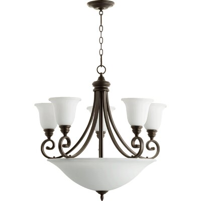 Asheville 9-Ligh Shaded Chandelier Finish: Oiled Bronze