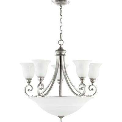 Asheville 9-Light Hanging Shaded Chandelier Finish: Classic Nickel