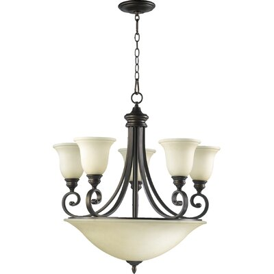 Asheville 9-Light Hanging Shaded Chandelier Finish: Oiled Bronze