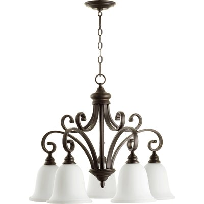 Asheville 5-Light Bell Shaded Chandelier Finish: Oiled Bronze