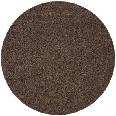 Curran Brown Area Rug Rug Size: Round 67