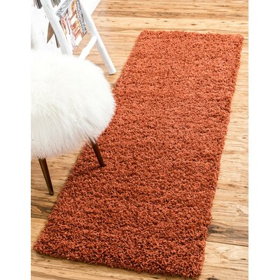 Lilah Basic Terracotta Area Rug Rug Size: Rectangle 9 x 12