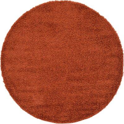 Lilah Basic Terracotta Area Rug Rug Size: Round 6