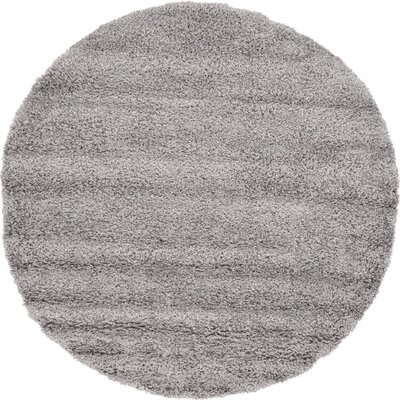 Lilah Gray Area Rug Rug Size: Round 6