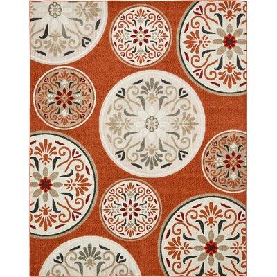 Niagara Orange/Beige Indoor/Outdoor Area Rug Rug Size: Rectangle 8 x 10