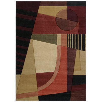 Ganley Urban Angles Red Rug Rug Size: Runner 27 x 74