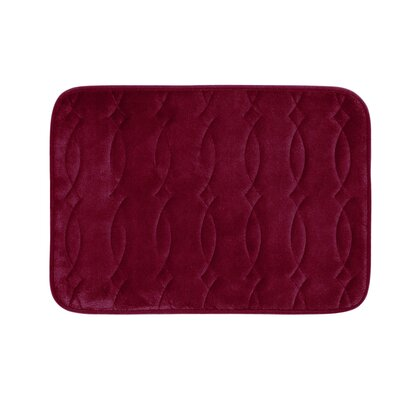 Kirkwood Plush Memory Foam Bath Mat Color: Barn Red, Size: 20 W x 34 L