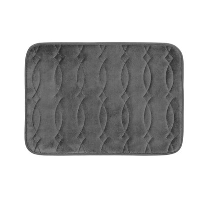 Kirkwood Plush Memory Foam Bath Mat Color: Dark Grey, Size: 20 W x 34 L