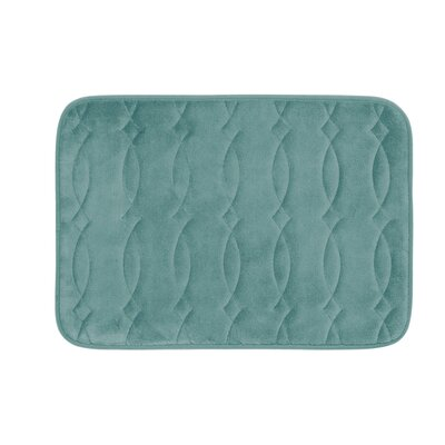 Kirkwood Plush Memory Foam Bath Mat Color: Marine Blue, Size: 17 W x 24 L