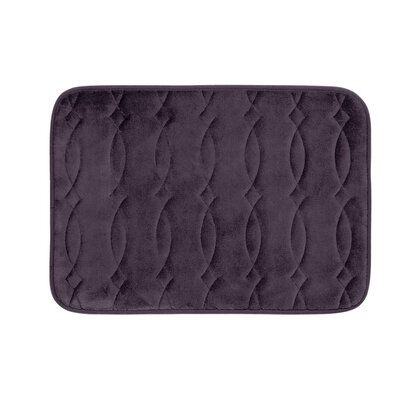Kirkwood Plush Memory Foam Bath Mat Color: Plum, Size: 20 W x 34 L