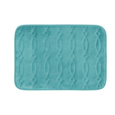 Kirkwood Plush Memory Foam Bath Mat Color: Turquoise, Size: 20 W x 34 L