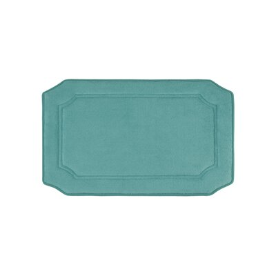 Goodfield Micro Plush Memory Foam Bath Mat Size: 17 W x 24 L, Color: Marine Blue