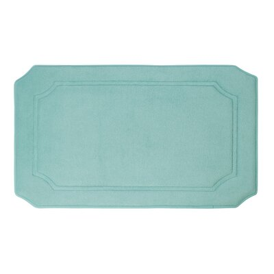 Goodfield Micro Plush Memory Foam Bath Mat Size: 17 W x 24 L, Color: Aqua