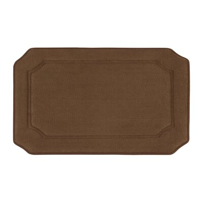 Goodfield Micro Plush Memory Foam Bath Mat Size: 17 W x 24 L, Color: Mocha