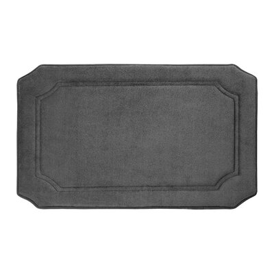 Goodfield Micro Plush Memory Foam Bath Mat Size: 17 W x 24 L, Color: Dark Grey