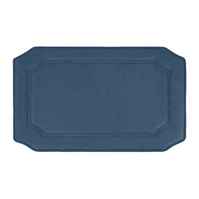 Goodfield Micro Plush Memory Foam Bath Mat Size: 17 W x 24 L, Color: Dusty Blue