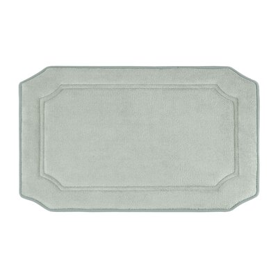 Goodfield Micro Plush Memory Foam Bath Mat Size: 17 W x 24 L, Color: Light Grey