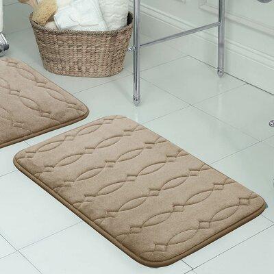 Kirkwood Plush Memory Foam Bath Mat Color: Linen, Size: 17 W x 24 L
