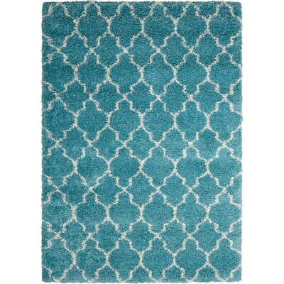 Drennen Aqua Area Rug Rug Size: Rectangle 53 x 75