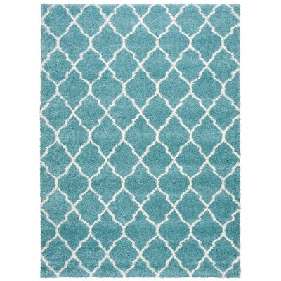 Drennen Aqua Area Rug Rug Size: Rectangle 7'10
