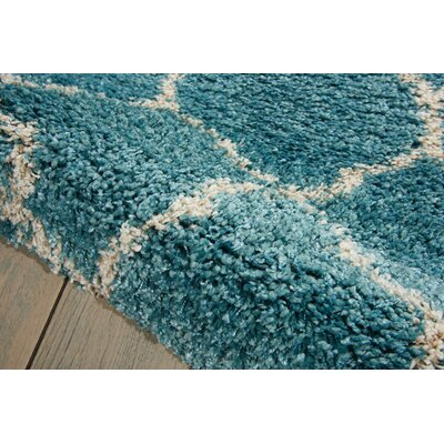 Drennen Aqua Area Rug Rug Size: Rectangle 10' x 13'