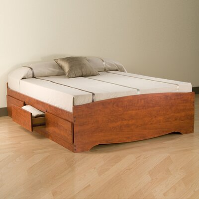 Hayman Storage Platform Bed Size: Full, Color: Cherry
