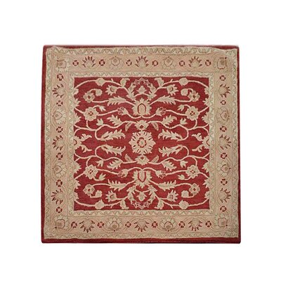 Morley Hand-Tufted Wool Red/Gold Area Rug Rug Size: Square 6