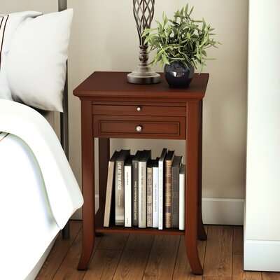End Table With Storage Color: Mahogany