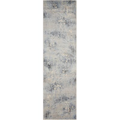 Smithtown Silver/Blue Area Rug Rug Size: Runner 23 x 10