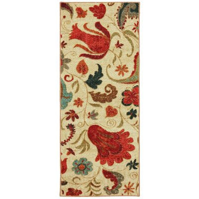 Virginia Beige/Red Area Rug Rug Size: Runner 2 x 5