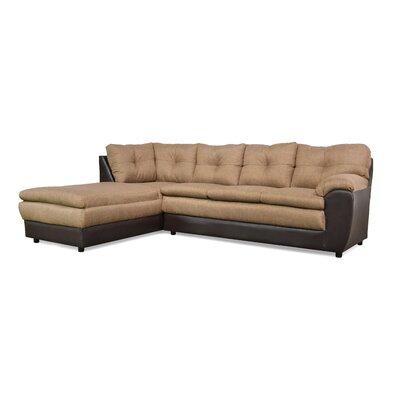 Brewster Sectional Upholstery: Jitterbug Pecan / San Marino Chocolate
