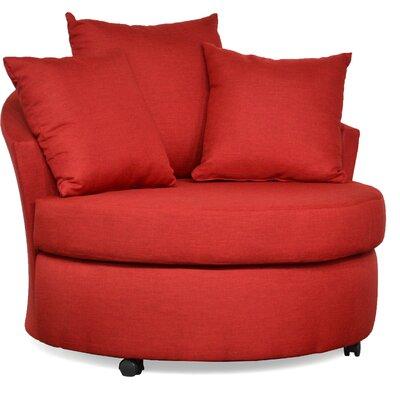 Dewitt Barrel Side Chair Upholstery: Oscar Red