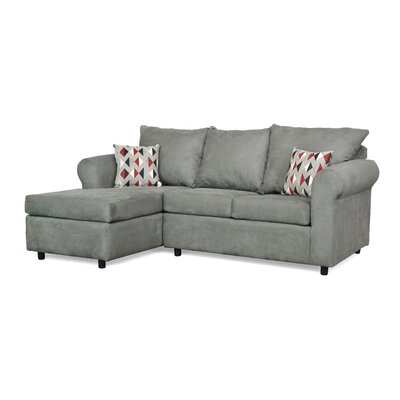 Dewitt Sectional Upholstery: Buldozer Graphite / Ventura Cinder