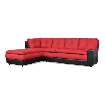 Brewster Sectional Upholstery: Due Red / San Marino Black