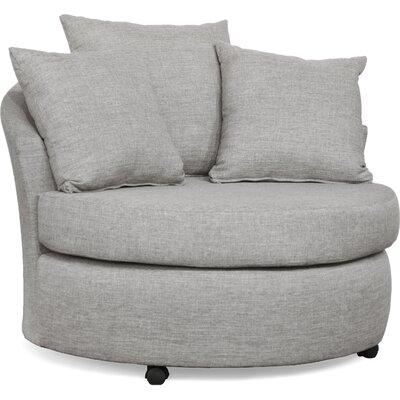 Dewitt Barrel Side Chair Upholstery: Oscar Sterling