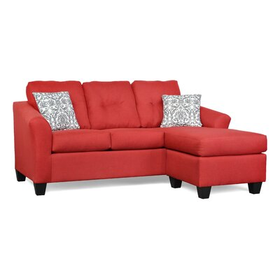 Desales Sectional Upholstery: Oscar Red