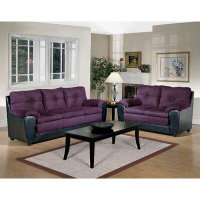 Brewster Sofa Upholstery: Oscar Amethyst / San Marino Black