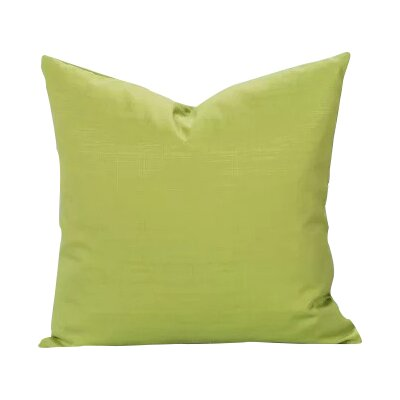 Black Raven Outdoor Throw Pillow Size: 16 H x 16 W x 6 D, Color: Citrus