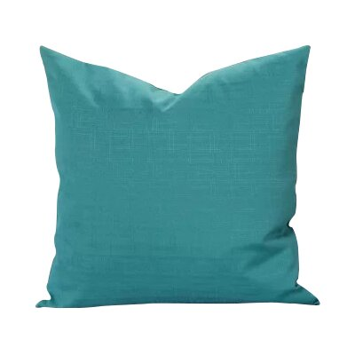 Black Raven Outdoor Throw Pillow Size: 20 H x 20 W x 6 D, Color: Teal