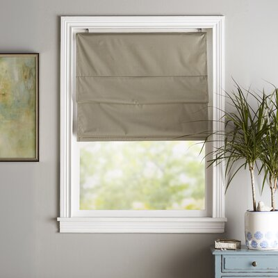 Blackout Roman Shade Size:  27 W x 63 L, Color: Sage