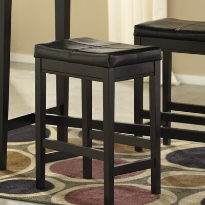 Justine 24 Bar Stool (Set of 2) Upholstery: Brown
