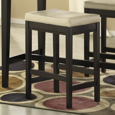 Justine 24 Bar Stool (Set of 2) Upholstery: Ivory