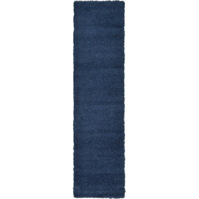 Falmouth Navy Blue Area Rug Rug Size: Runner 26 x 10