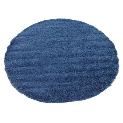 Falmouth Navy Blue Area Rug Rug Size: Round 6