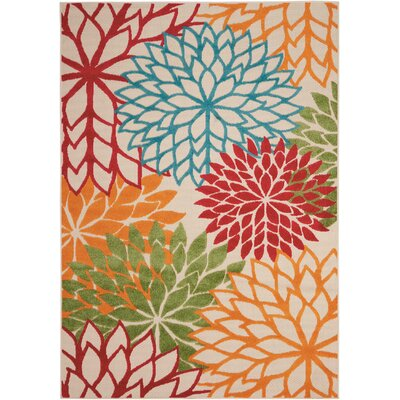 Goldhorn Red Indoor/Outdoor Area Rug Rug Size: 53 x 75