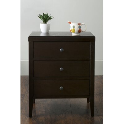 Rushville 3 Drawer Nightstand Color: Brown