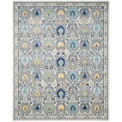 Aegean Ivory/Gray Area Rug Rug Size: Rectangle 11' x 15'