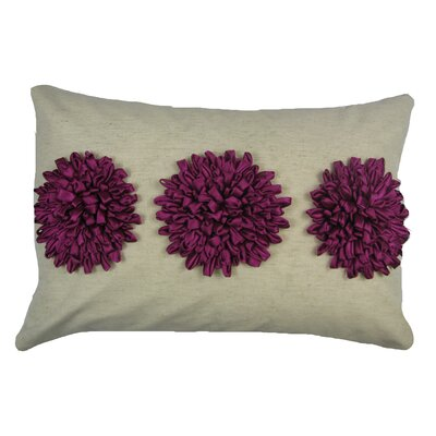 Reddick 100% Cotton Lumbar Pillow Color: Fuschia