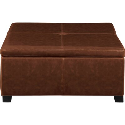 Elwood Square Storage Ottoman Upholstery: Medium Brown